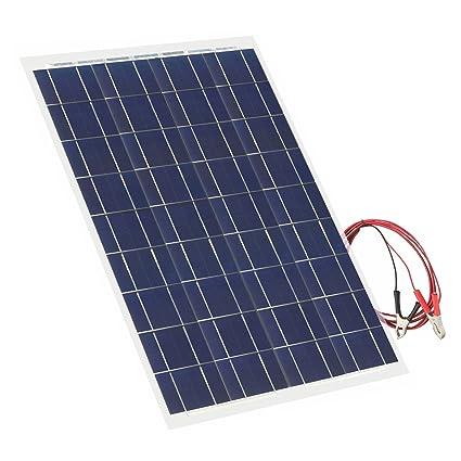 30 Watt Flexible Solar Panel 18V 12V Portable Polycrystalline Solar Panel  Charger Bendable Thin Lightweight Solar Panel Kit for RV, Car, Boat, Cabin,