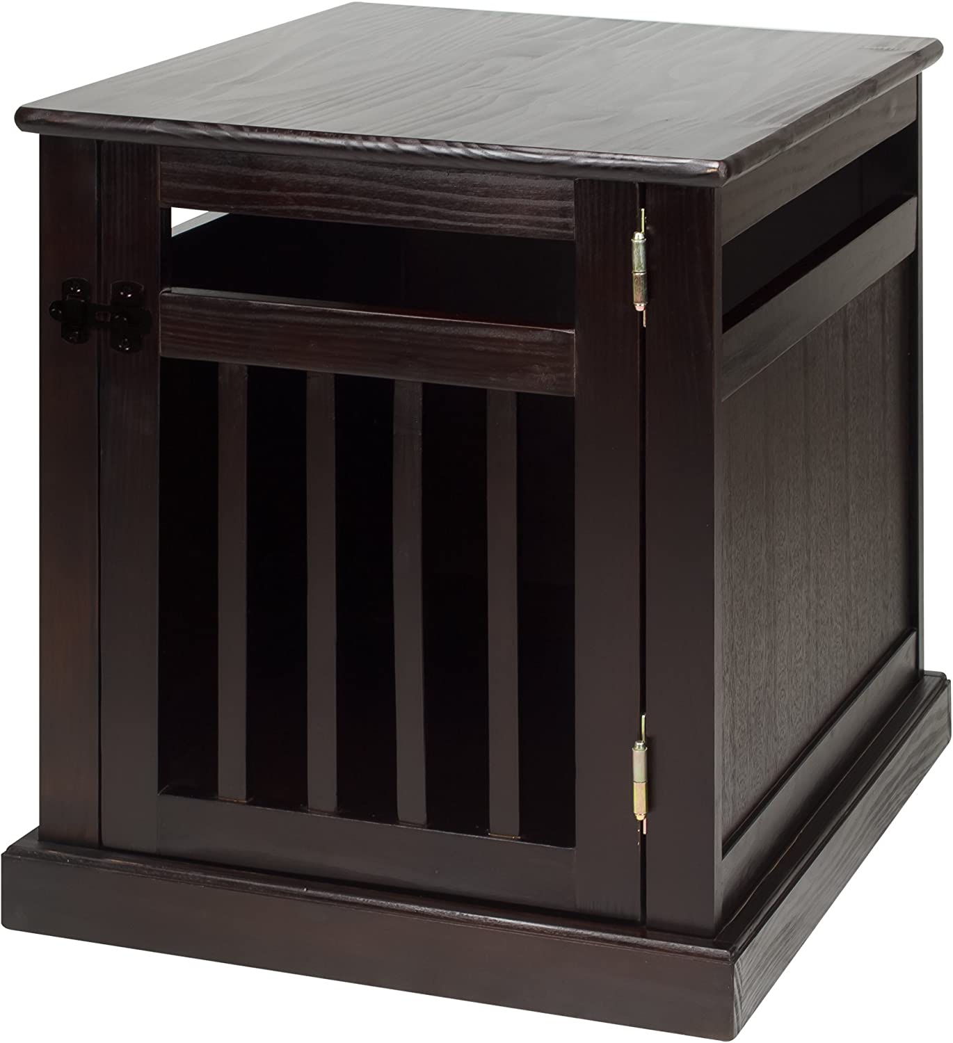 Casual Home Wooden Small Pet Crate, End Table, Espresso
