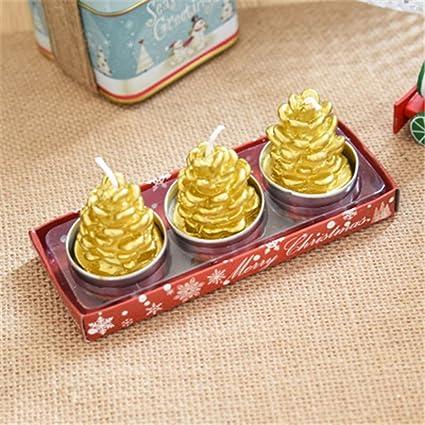 Amazon.com: Hot Sale!DEESEE(TM) 3 velas de Navidad con Santa ...