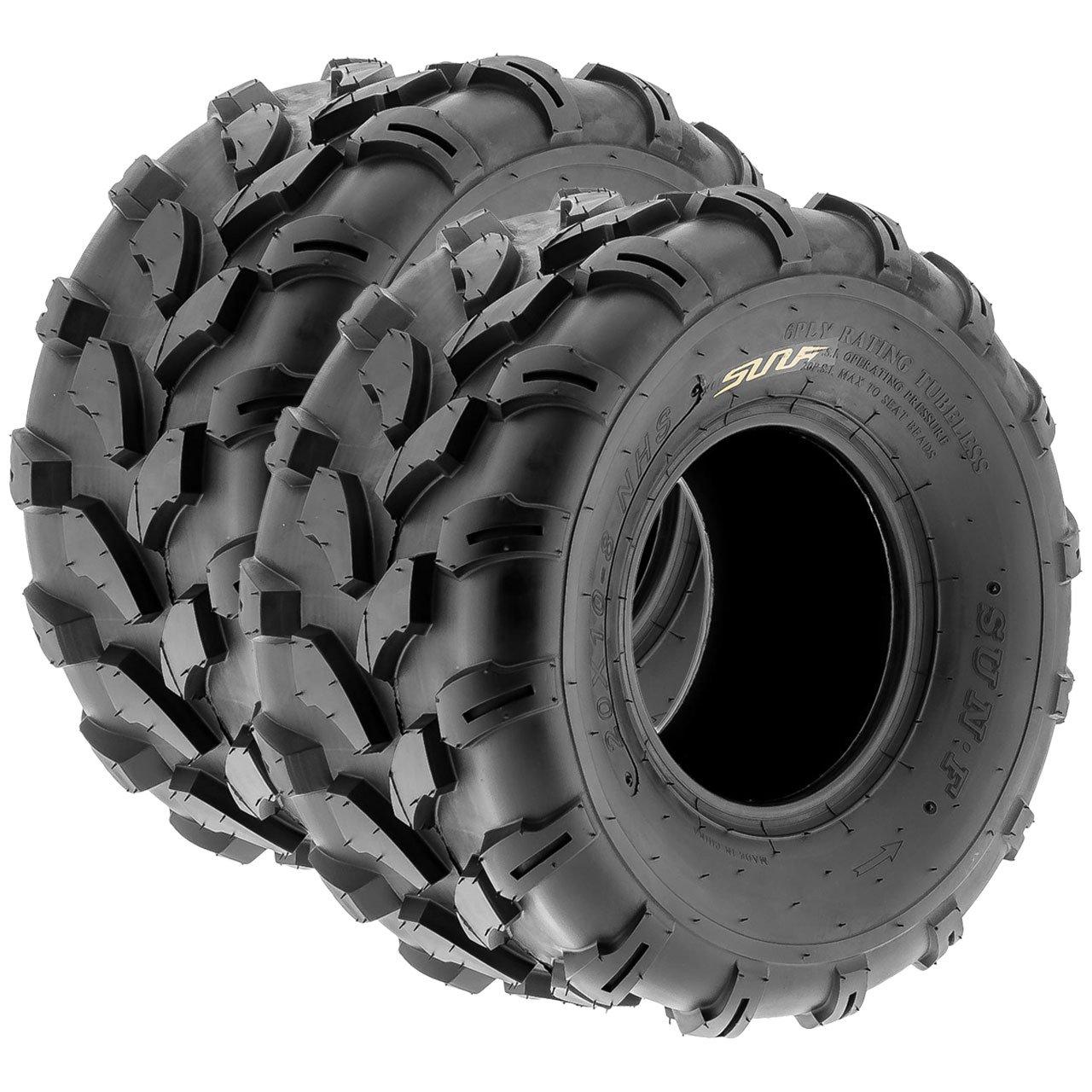 SunF A003 ATV/UTV/Lawn-Mowers Off-Road Tire 19x9.5-8, 6 PR, Directional Tread (Pair of 2)