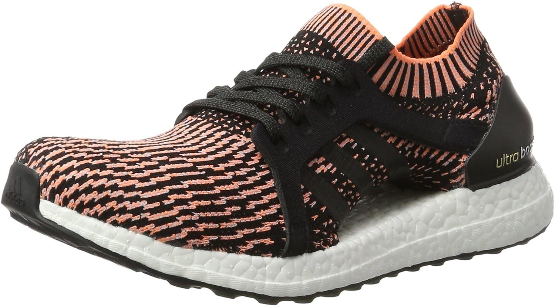 adidas Women s Edgebounce Mid Running Shoe, Black Silver Metallic Shock Pink, 11 M US