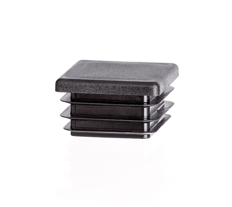 10 Stck. Bouchon pour tuyau carré 20x20 anthracite plastique Embout bouchons d'obturation