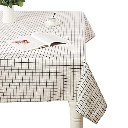 52b1d1ddd53 AIYUE Rural Cotton Linen Table Cloths Table Cover Washable Decorative Table  Top Cover for Dinner Kitchen