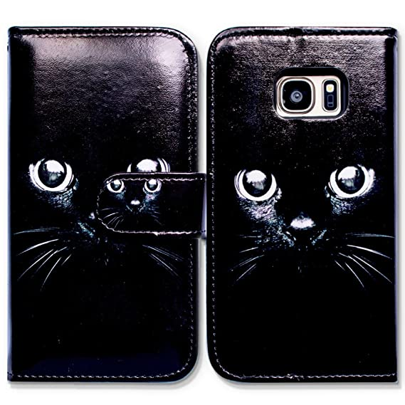 new arrival d179f 882a2 Bfun Packing Galaxy S6 Case,Bcov Black Cat Style Card Slot Wallet Leather  Cover Case For Samsung Galaxy S6