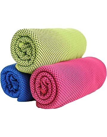 healifty 3 piezas microfibra toalla de secado rápido toalla Instant Cool para Gym Sport Outdoor activties