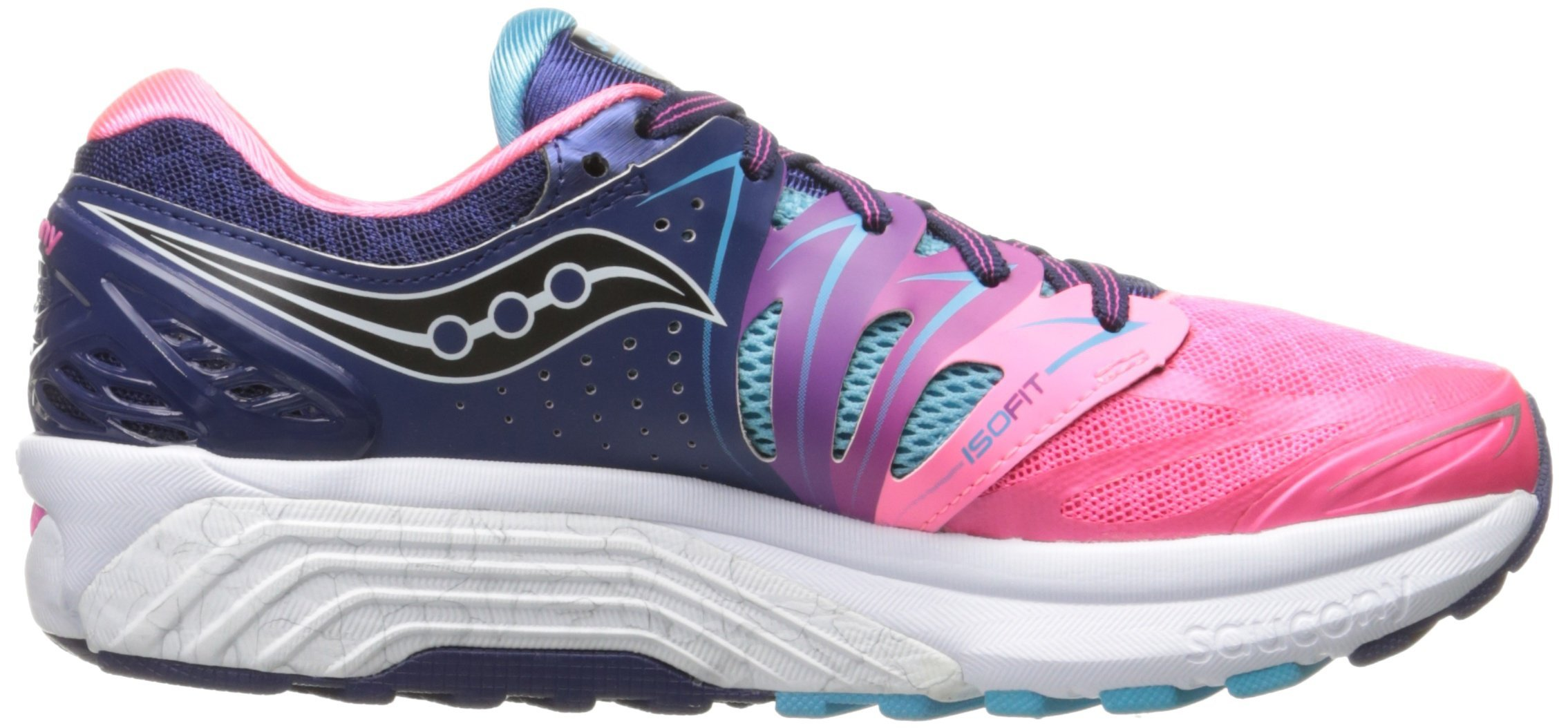 Saucony Women's Hurricane ISO 2 Running Shoe, Blue/Pink, 8 M US by Saucony (Image #5)