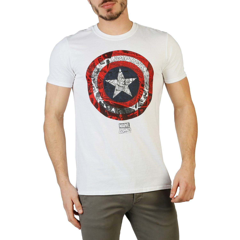 Marvel Ca Comic Shield Camiseta para Hombre: Amazon.es: Ropa y ...