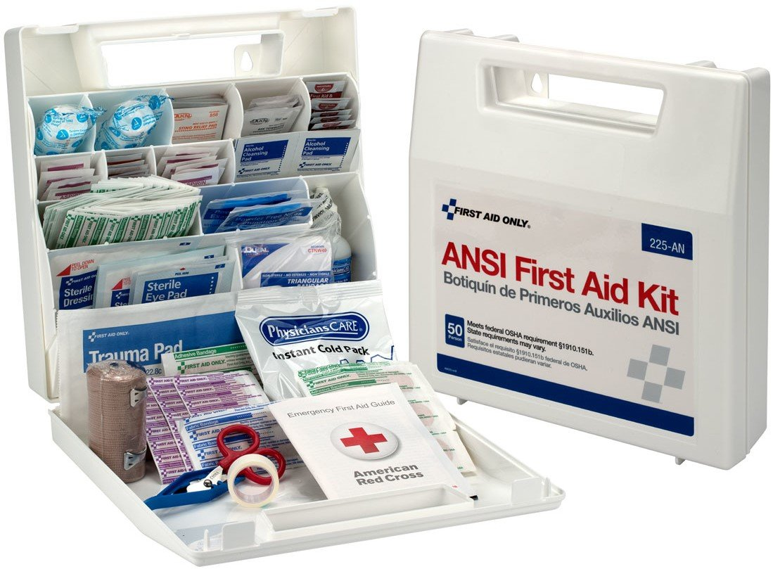 Pac-Kit by First Aid Only 50 Person Bulk First Aid Kit, Ansi, 196-Piece Kit