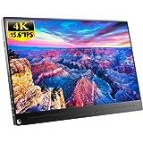 EVICIV 15.6インチ/4K HDR/モバイルモニター/モバイルディスプレイ/薄型/IPSパネル/USB Type-C/標準HDMI/mini DP/スタンド付 EVC-1504