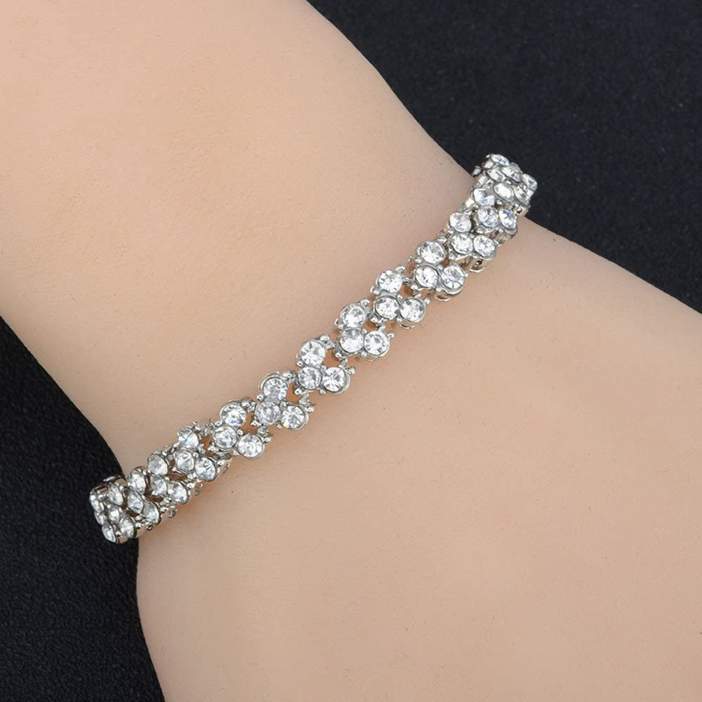 Cewtolkar Women Bracelets Valentines Day Bracelet Fashion Bracelet Diamond Bracelets Mom Bracelets Party Bangle