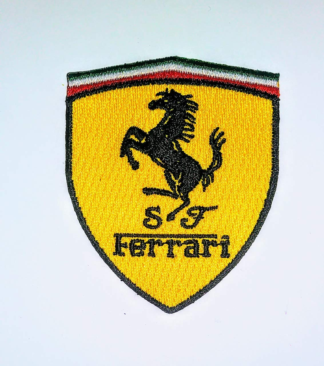 Ferrari Embroidered Iron On Automotive Patch.