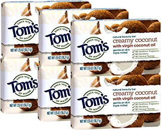 product image for Tom's of Maine Natural Beauty Bar, Coconut, 1.35 Ounce Travel Size (Pack Of 6)