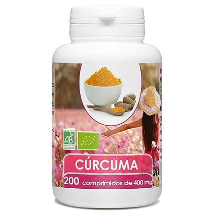 Cúrcuma Orgánico - 200 comprimidos - 400mg por comprimido