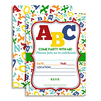 Amazoncom ABC Alphabet Letters and Learning Birthday Party