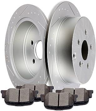 Ceramic Pads for 2005 2006 2007 2008 2009 2010 Scion TC Front /& Rear Rotors
