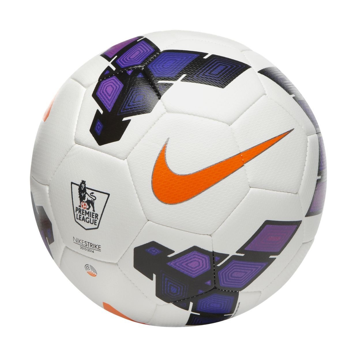 Nike Strike Football FootBall   Color: White/Purple , Size :5  Football Shoes