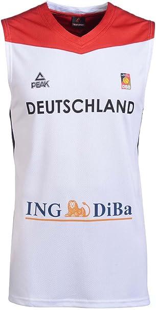 Peak Sport Europe Herren Peak Single Jersey Men 2016 Red Germany Trikot