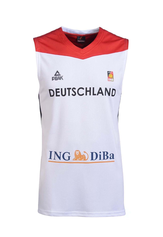 Peak Sport Europe Herren Peak Single Jersey Damens 2016 Weiß Germany Trikot