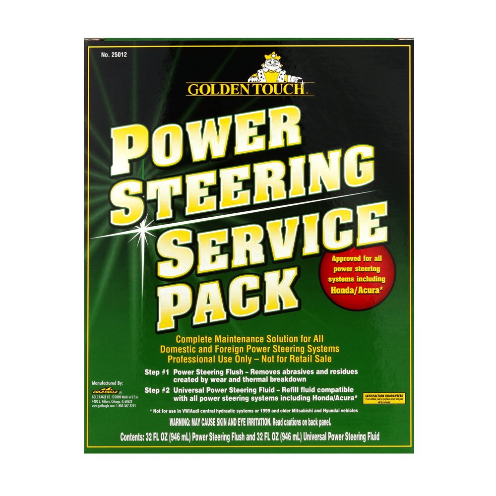 Golden Touch 25012-6PK 2 Step Power Steering Fluid Flush and Fill Pack - 32 fl. oz., (Pack of 6)