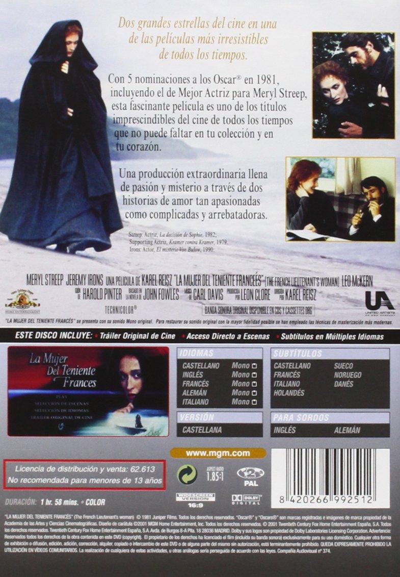 Amazon.com: La Mujer Del Teniente Francés (Import Movie) (European Format - Zone 2) (2002) Meryl Streep; Emily Morgan;: Movies & TV