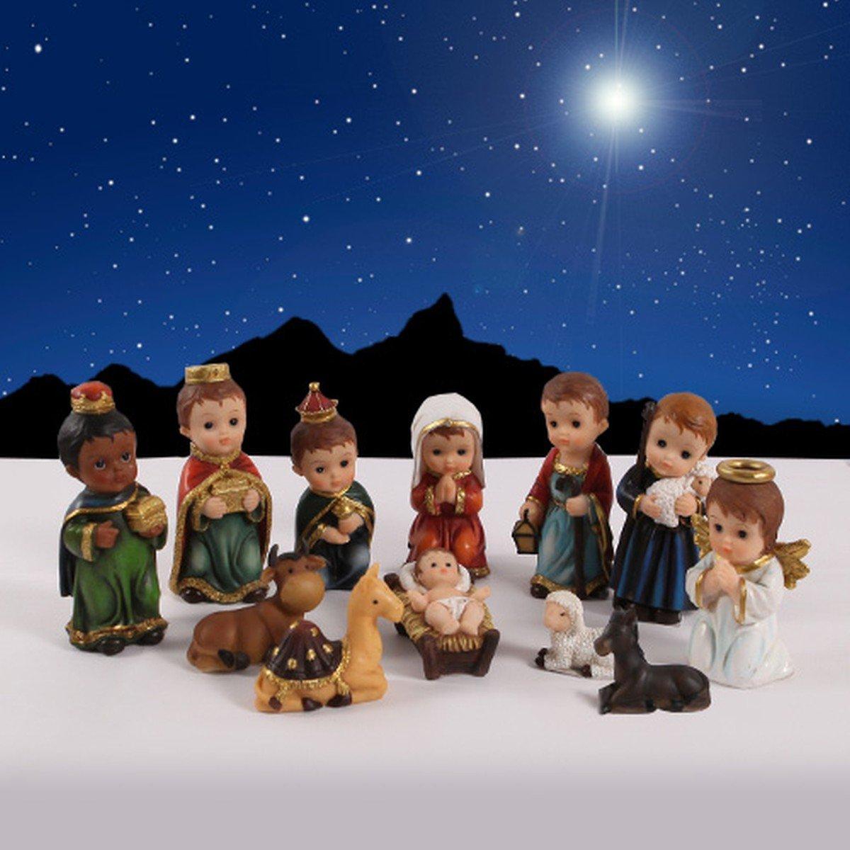 ''O Holy Night'' 12 Pieces Children's Nativity Set