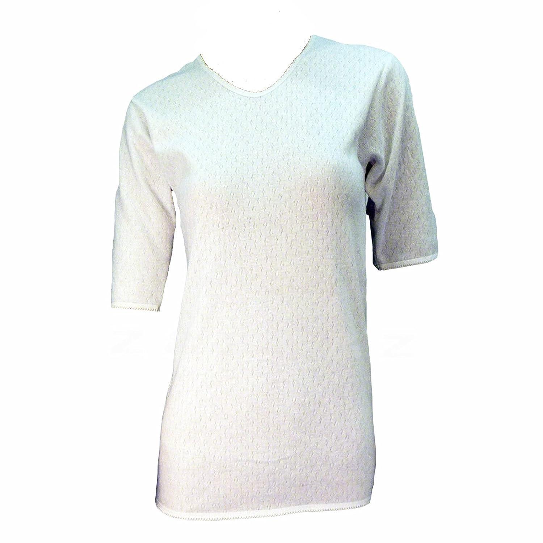 XLarge Ladies Thermal Underwear Short Sleeve Vest for Winter /& Ski Wear Size S-XXL