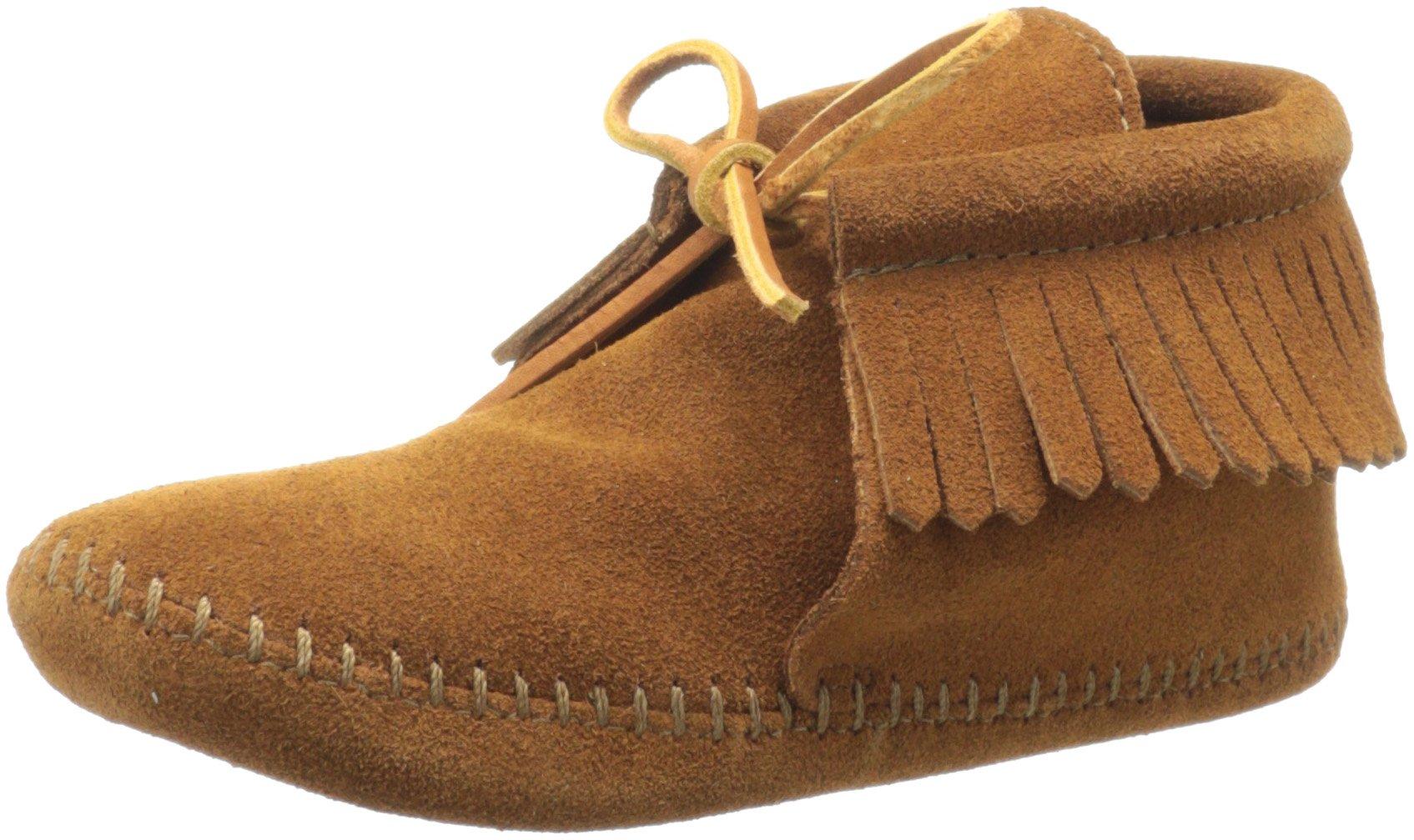 Minnetonka Classic Fringe Softsole Boot (Toddler/Little Kid/Big Kid),Brown,9 M US Toddler