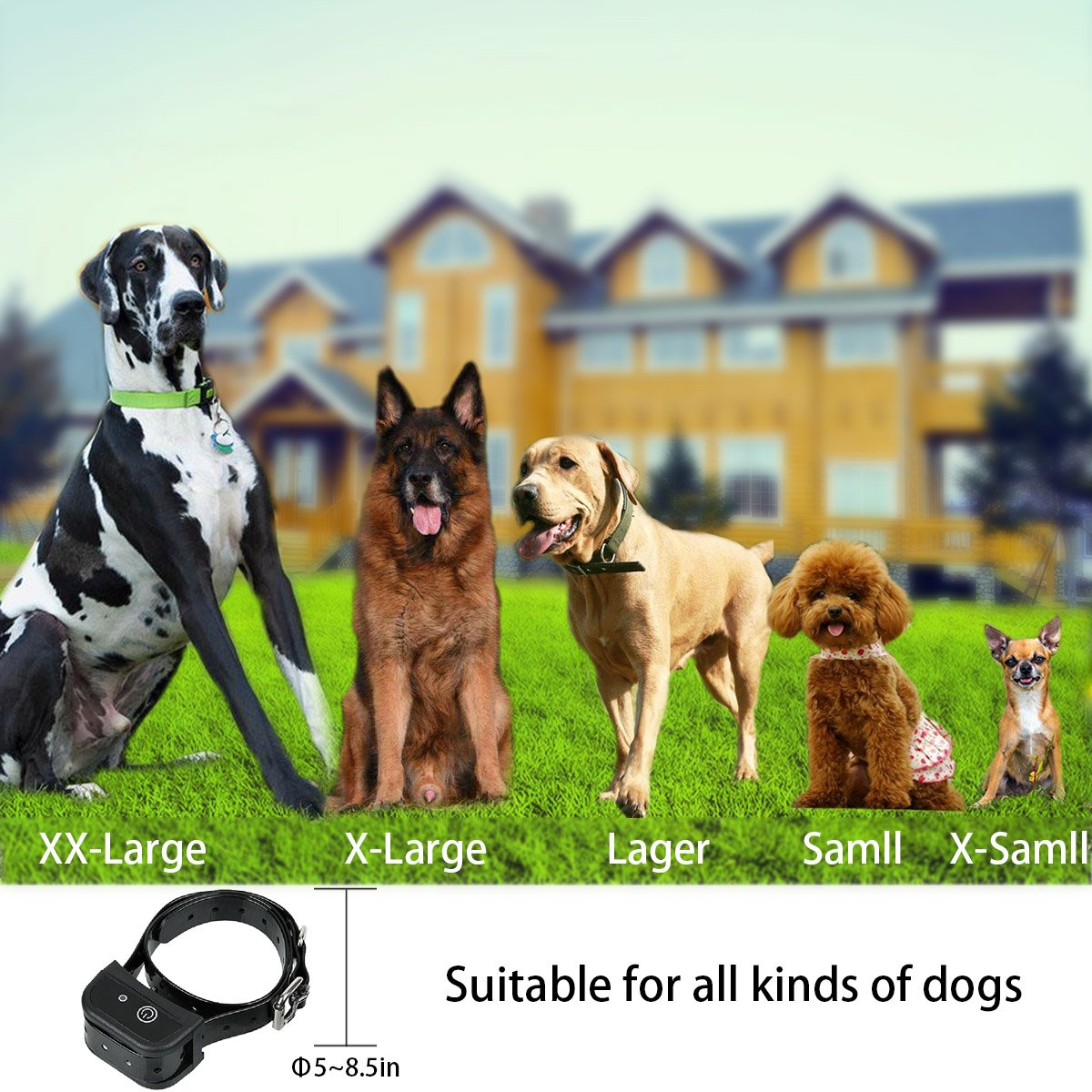amazon com stonepack 2 in 1 wireless dog fence system with dog