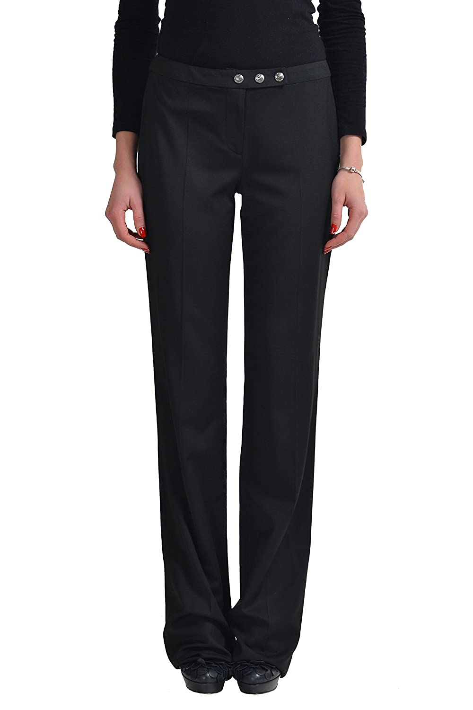 Gianni Versace Wool Black Women's Casual Pants US 4 IT 40