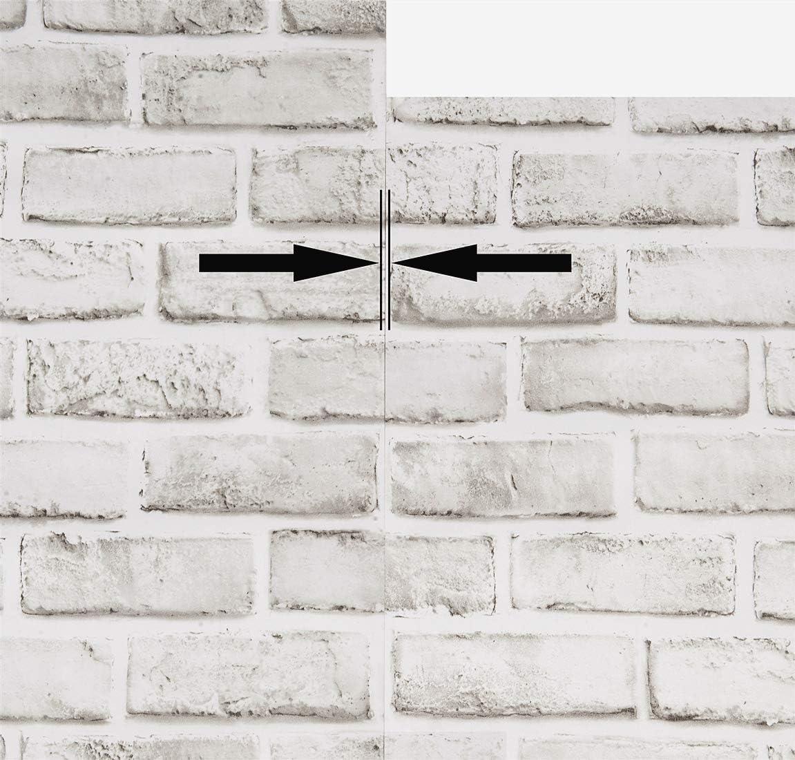 White Brick Peel And Stick Wallpaper Removable Wallpaper Cleanable Wall Paper Shelf Paper Self Adhesive Grey White Brick Vinyl Pattern Bathroom Backsplash 17 7 In X 393 7 In Fireplace Decoration Home Kitchen