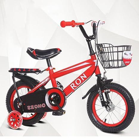 YIHANGG Bicicleta Para Niños 2~12 Años Ajustable Ligero Entrenamiento Ruedas Acero Al Carbono Para