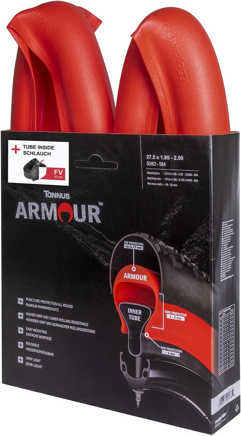 facilit/à di montaggio Tannus Armour 3 in 1 Puncture Round Protection 20 x 1,95-2,50 impugnatura alta con bassa resistenza al rotolamento riutilizzabile