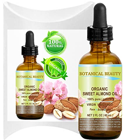 Aceite de almendra de suero orgánico 100% puro, virgen y sin refinar prensado en