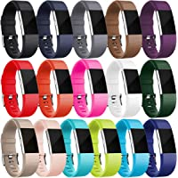 HUMENN For Fitbit Charge 2 Strap Bands, Soft Adjustable Replacement Sport Wristband for Fitbit Charge 2 Small Large 16 Colours