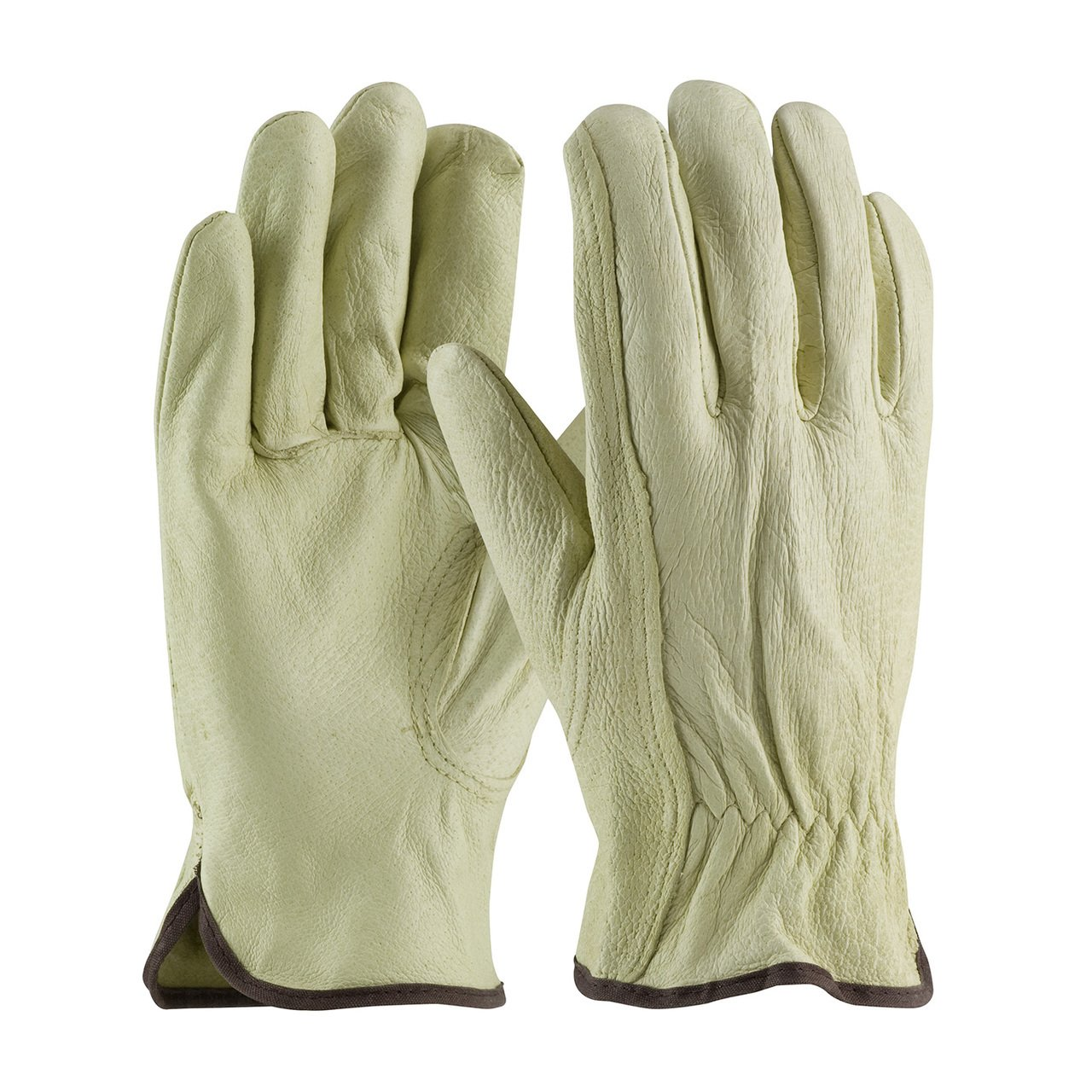 Select Grain Pigskin Leather Driver Gloves, 12 Pair (Large)