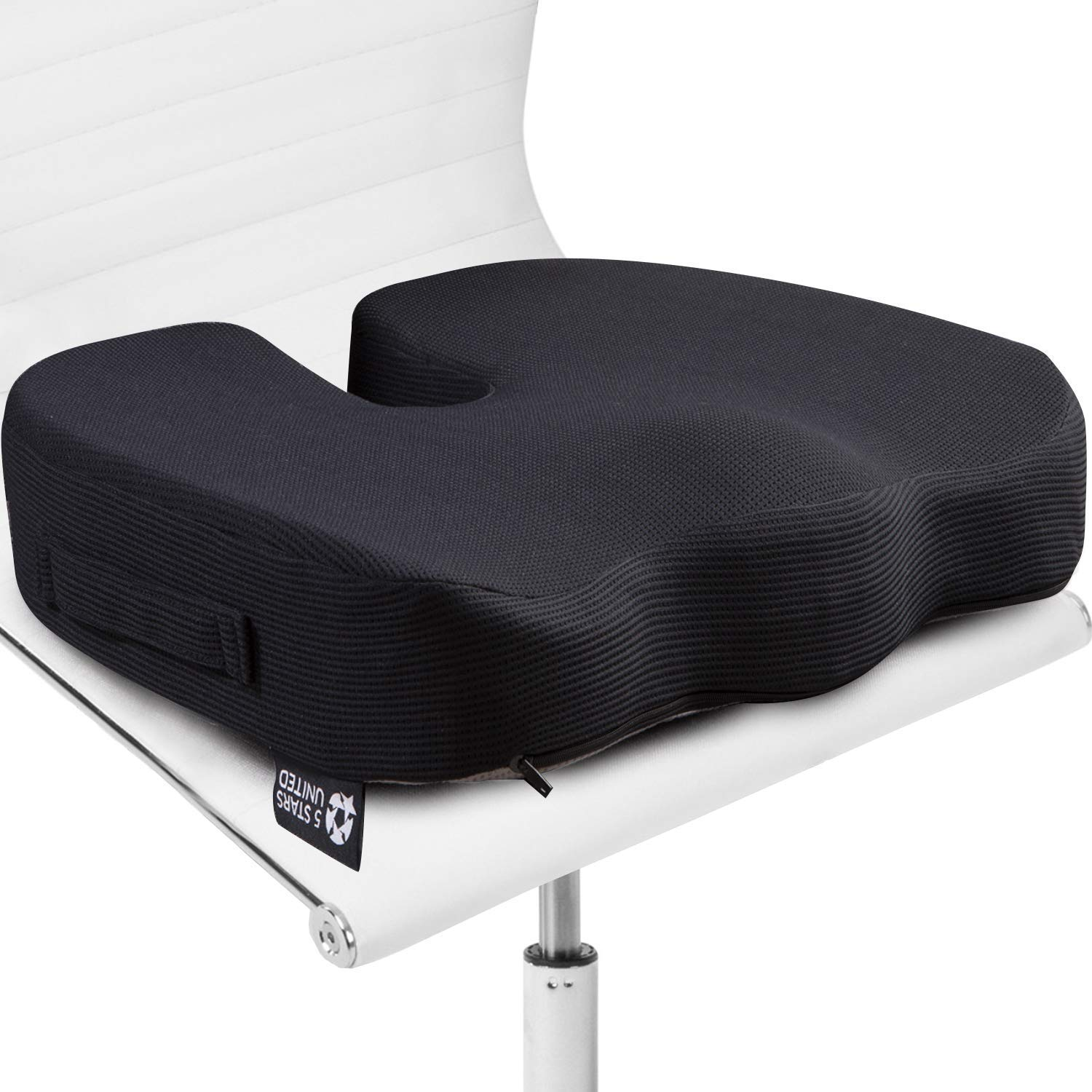 Seat Cushion Pillow For Office Chair 100 Memory Foam Firm Coccyx Pad Tailbone Sciatica Lower Back Pain Relief Posture Corrector For Car