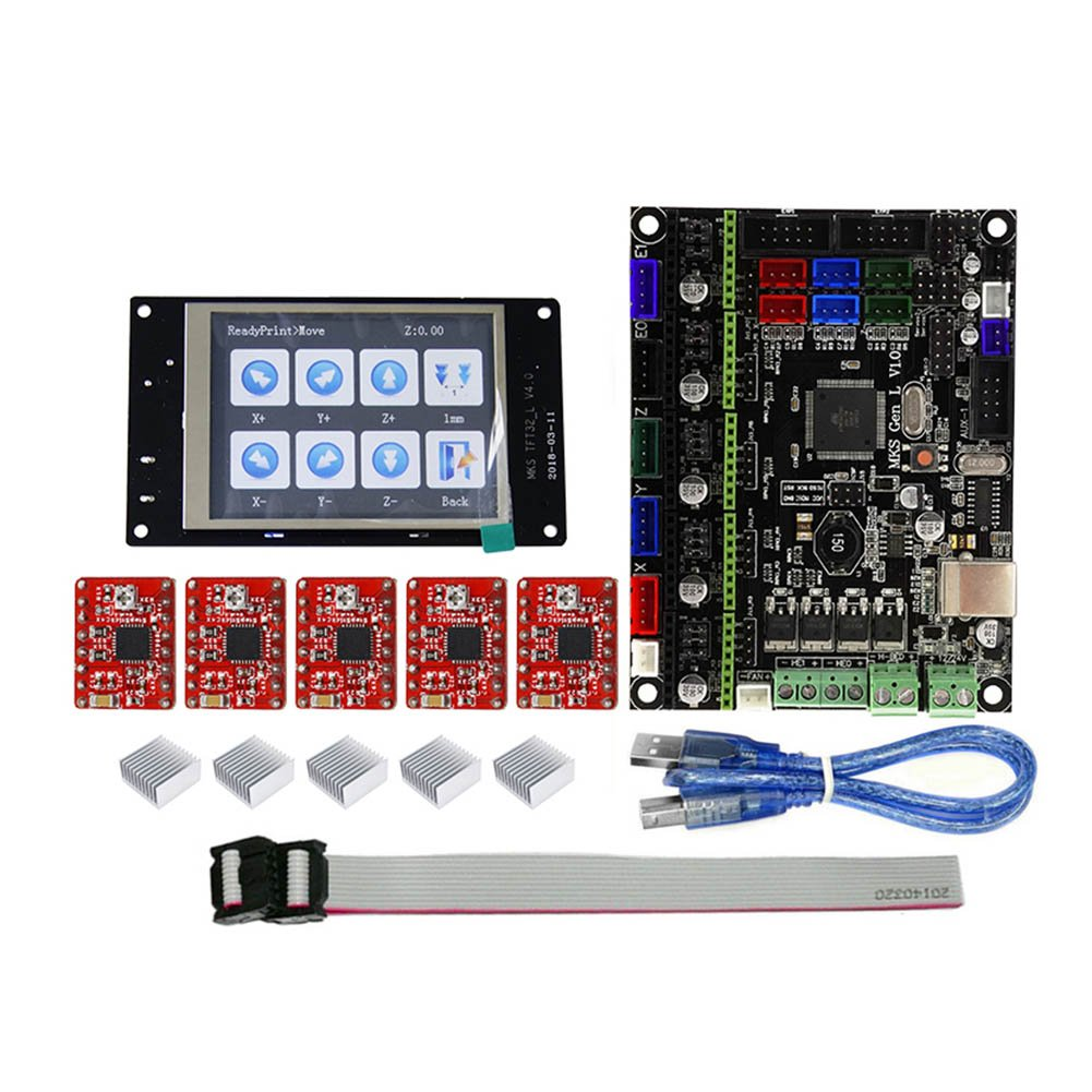 Majome pour MKS Gen L MKS Tft32LCD Minipanel Toucher Écran 3D Impression Kits avec A4988 1ed4tf6kc3zh0rv9