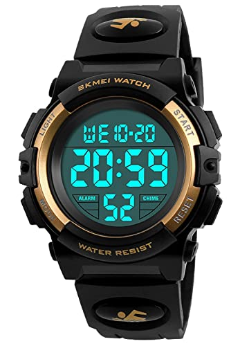 Boys Watches for Kids - Gold Watch for Kid - Waterproof Sports Digital