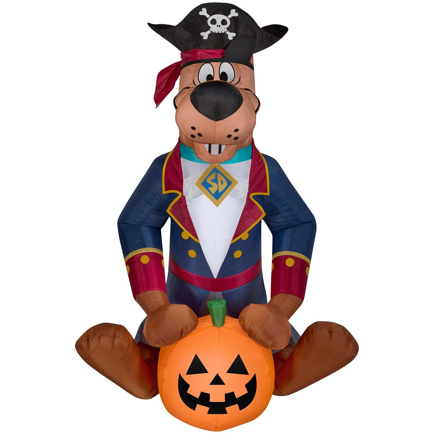 Halloween Inflatable Pirate Scooby Doo w/ Pumpkin By Gemmy