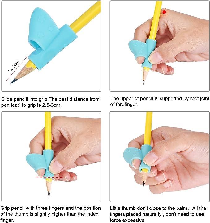 6 Piezas de Soporte de Lápiz de Niños Herramienta de Corrección de Postura de Escritura para Lápices: Amazon.es: Oficina y papelería