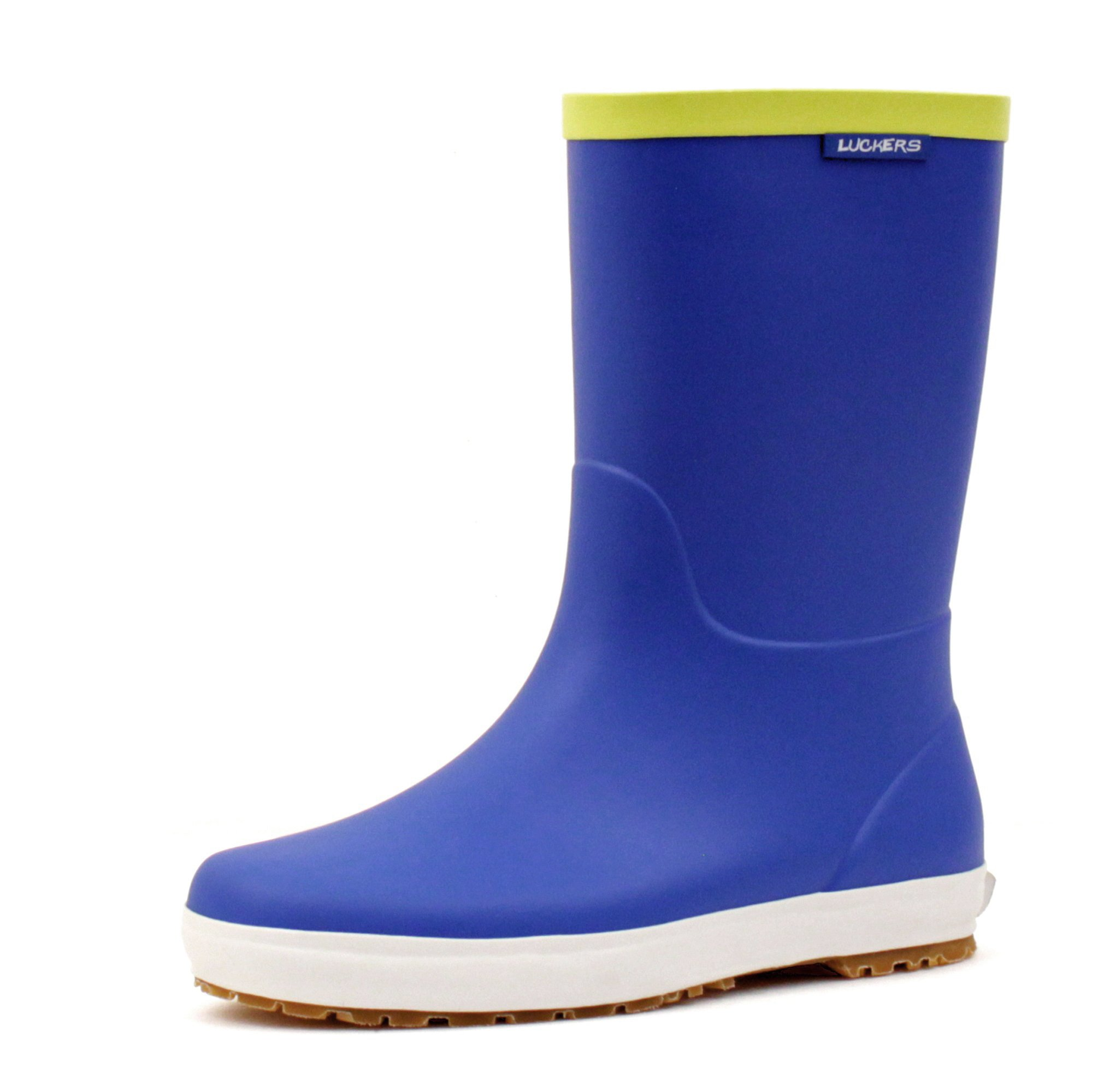 Luckers Girl's Trendy Foldable Wellies Rain Boots (Y3 M US Little Kid, Navy Blue)