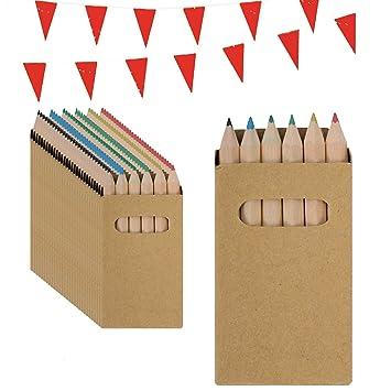 Piñata Cumpleaños Infantil Partituki. 50 Sets de 6 Lápices de Colores y una Guirnalda de 10mts. Ideal como Detalles para Niños, Fiesta Cumpleaños ...