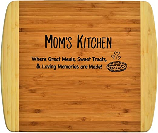 Amazon.com: Mamá/madre regalo ~ grabado 2 tonos bambú tabla ...
