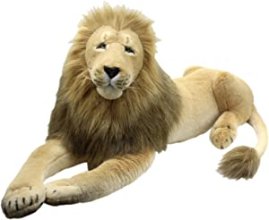 TAGLN Giant Stuffed Animals Lion Toys Plush Lifelike 45 Inch