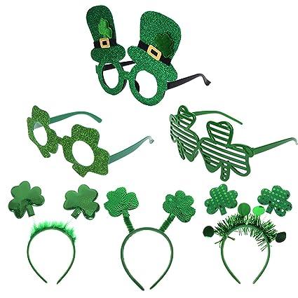 a1f48d80f Amazon.com: AOPOO 6 Bulks St. Patrick's Day Accessories Green ...