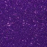 "10""x12"" 5-pack Glitter Iron-on Heat Transfer Vinyl Sheets (Purple)"