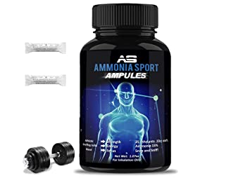 AmmoniaSport: Athletic Smelling Salts - Ampules (25) - Energy Booster -  Instant Focus - Preworkout - Intraworkout - Ammonia Inhalant - Smelling  Salt -