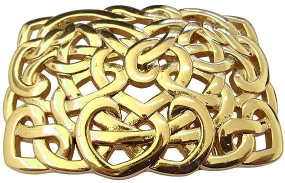 Brazil Lederwaren Gürtelschnalle Knoten Design 4,0 cm | Buckle Wechselschließe Gürtelschließe 40mm Massiv | Für Wechselgürtel bis zu 4cm Breite