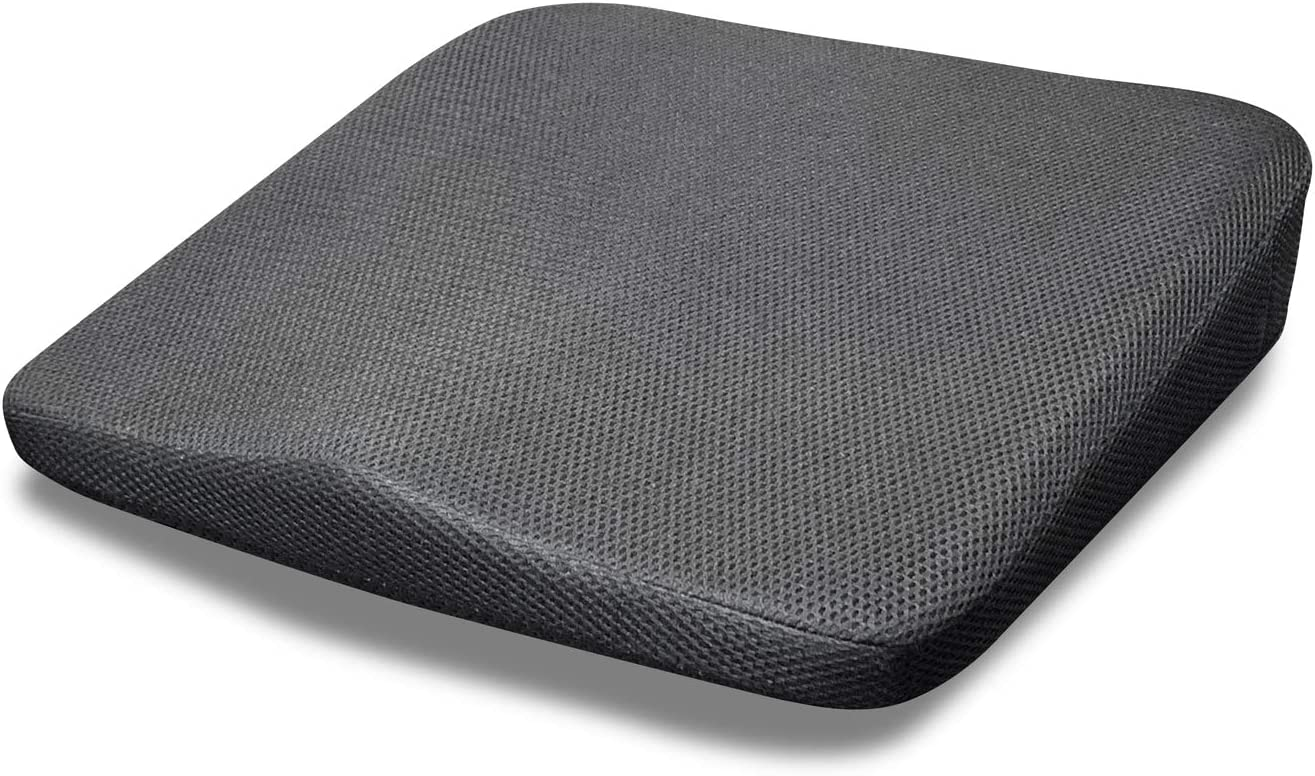 Naconic Extra Firm Memory Foam Seat Cushion for Office Chair, Car, Truck Seat, Wheelchair, with Non-Slip Washable Cover, Tailbone, Back, Sciatica Pain Relief Coccyx Orthopedic
