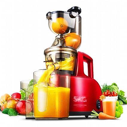GCCI Juicer de Baja Velocidad Jugo de Fruta Casera Automática de Frutas Y Hortalizas Multifuncional Jugo